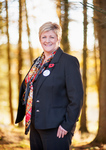 Corporate head shot of Tesco manager Anne Lloyd