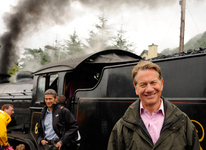 Michael Portillo at Fort William Railway Station