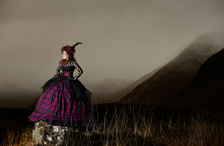 Lorna Gillies Fashion Shoot at Rannoch Moor in The Highlands